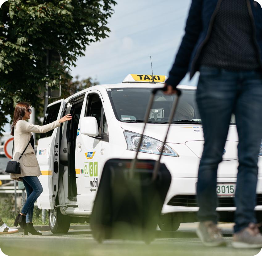 Einstieg ins ISTmobil Taxi